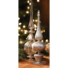 2 Piece Holiday Tabletop Finial Set (Set of 2)