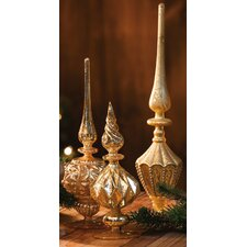 3 Piece Holiday Tabletop Finial Set (Set of 3)