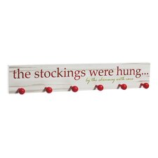 The Stockings Were Hung... Wooden Mantel Sign
