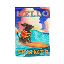Hello Summer Vertical Flag