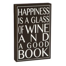 Happiness is a Glass of Wine on the Patio Wall Décor