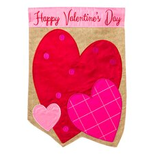 Valentine Hearts Garden Flag