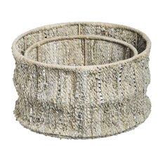 Coastal Elegance Leather Storage Basket