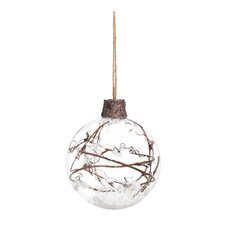 Rustic Glass Ball Ornament