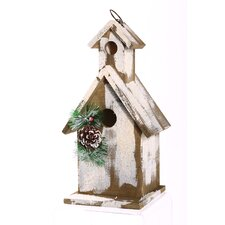 Snow Covered Chapel Free Standing Birdhouse