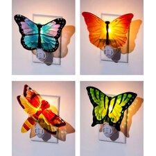 4 Piece  Butterfly Night Light Set