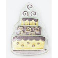Glass Wedding Cake Charm