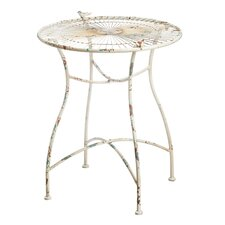 Antique White Metal Round Dining Table