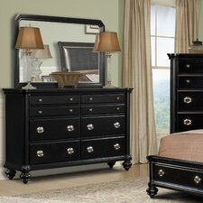 Brandy 8 Drawer Dresser with Mirror