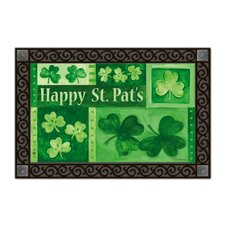 Shamrock Collage Matmate Doormat