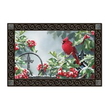 Hollyberry Cardinal Matmate Doormat