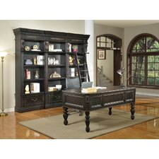 Grand Manor Palazzo 5 Piece Writing Desk and Bookcase