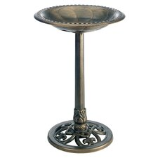 Pedestal Bird Bath in Antique Bronze