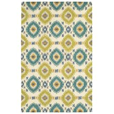 Dazzle Ivory / Light Blue Area Rug