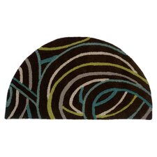 Vibrance Miami Black Swirls Rug