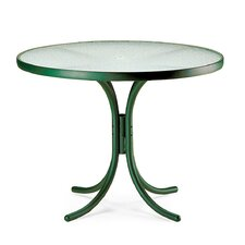 """Obscure Acrylic Top Tables 36"""" Round Dining Table with Hole"""