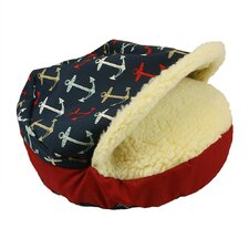 Orthopedic Pool and Patio Cozy Cave Anchors Dog Bed