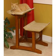 "Craftsman Series 29"" Double Seat Wooden Cat Perch"