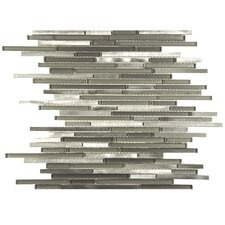 Commix Random Sized Aluminum and Glass Mosaic Tile in Sonoma