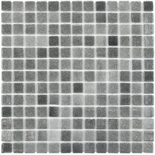 "Colgadilla Square 0.88"" x 0.88"" Glass Mosaic Tile in Gris"