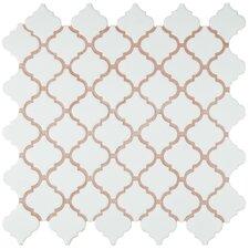 """Pharsalia 2"""" x 2.5"""" Porcelain Mosaic Tile in Matte White"""