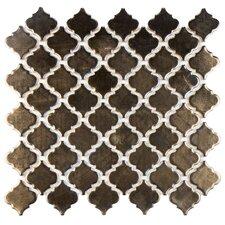 """Pharsalia 2"""" x 2.5"""" Porcelain Mosaic Tile in Glossy Gold"""