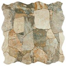 "Atticas 17.75"" x 17.75"" Ceramic Splitface Tile in Gris"
