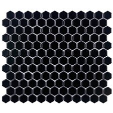 "Retro 0.875"" x 0.875"" Porcelain Mosaic Tile in Matte Black"