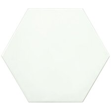 """Hexitile 7"""" x 8"""" Porcelain Field Tile in Glossy White"""