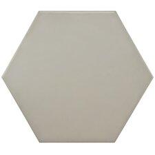 """Hexitile 7"""" x 8"""" Porcelain Field Tile in Matte Gray"""