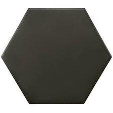 "Hexitile 7"" Porcelain Field Tile in Matte Black"