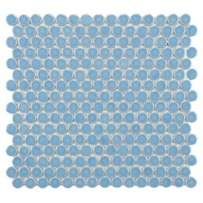"Penny 0.75"" x 0.75"" Porcelain Mosaic Tile in Light Blue"