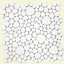 Boulder Random Sized Porcelain Mosaic Tile in White