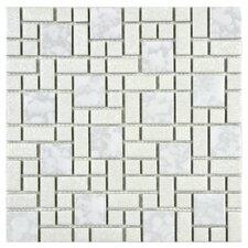 Academy Random Sized Porcelain Mosaic Tile in White