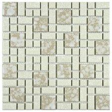 Academy Random Sized Porcelain Mosaic Tile in Bone