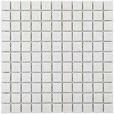 """Retro 1"""" x 1"""" Porcelain Mosaic Tile in White"""