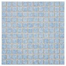"Pool 1"" x 1"" Porcelain Mosaic Tile in Alboran"