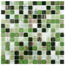 """Fused 0.75"""" x 0.75"""" Glass Mosaic Tile in Forest Green"""