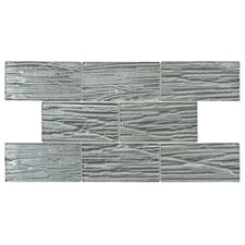 """Timber Glass 3"""" x 6"""" Glass SubwayTile in Blue"""