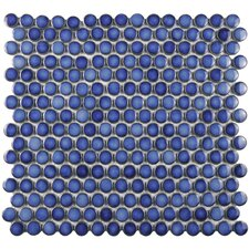 Penny 12'' x 12'' Porcelain Mosaic Tile in Sapphire