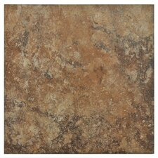 "Skabos 14.19"" x 14.19"" Porcelain Floor and Wall Tile in Brown"