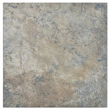 """Skabos 14.19"""" x 14.19"""" Porcelain Floor and Wall Tile in Gray"""
