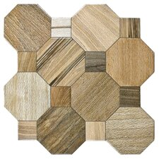"""Meaco 17.75"""" x 17.75"""" Ceramic Floor and Wall Tile in Brown"""