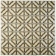 "Jericho 12.5"" x 12.5"" Random Porcelain Mosaic Floor and Wall Tile in Beige"