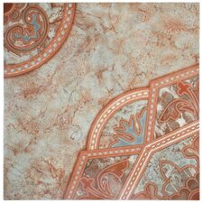 """Tanja 19.75"""" x 19.75"""" Ceramic Floor and Wall Tile in Red"""