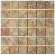 "Elbert 12.5"" x 12.5"" Porcelain Mosaic Floor and Wall Tile in Brown"