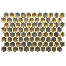 "Genoa 9"" x 5.5"" Porcelain Metallic Floor and Wall Tile in Gold"