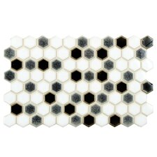 """Genoa 9"""" x 5.5"""" Porcelain Floor and Wall Tile in White"""
