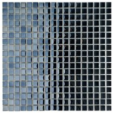 "Sable 0.625"" x 0.625"" Glass Mosaic Tile in Black Mirror"