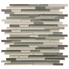 Seirra Random Sized Glass and Natural Stone Mosaic Tile in Plateau